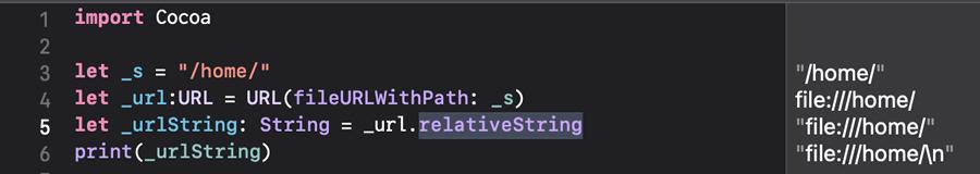 Swift URL 文字列変換